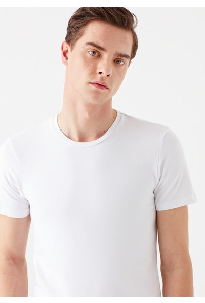 Mavi Erkek Beyaz Basic Tişört 061747-620