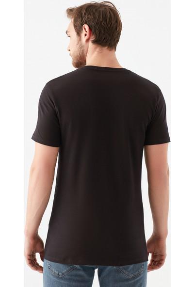 Mavi Erkek V Yaka Streç Siyah Basic Tişört 061748-900