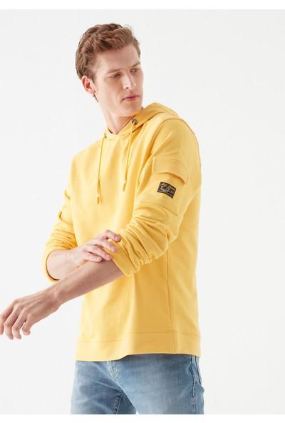 Mavi Erkek Kapüşonlu Sarı Sweatshirt 066550-33408