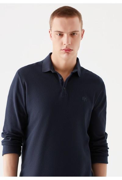 Mavi Erkek Uzun Kollu Lacivert Polo Tişört 065018-32184