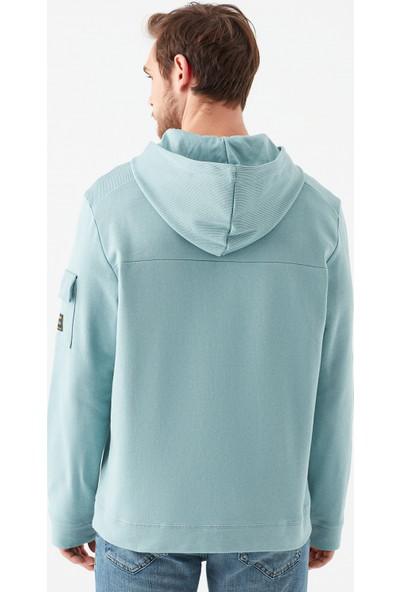 Mavi Erkek Kapüşonlu Mavi Sweatshirt 066550-33508