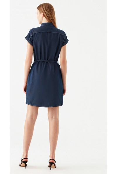 Mavi Kadın Barbara Lux Touch Lyocell Jean Elbise 130548-28636