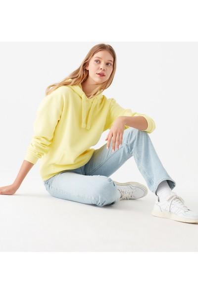 Mavi Kadın Kapüşonlu Sarı Sweatshirt 167299-32438