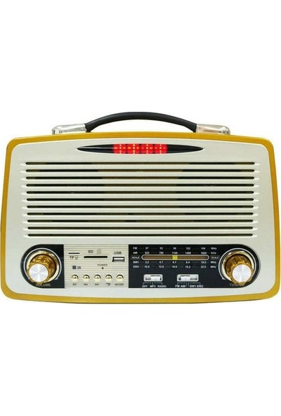 Kemai 1700 Nostalji Bluetooth-Sd Kart Girişli Retro Vintage Radyo