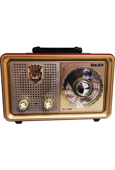 Meier -110BT Usb/sd/mp3/bluetooth Şarjlı Nostaljik Radyo
