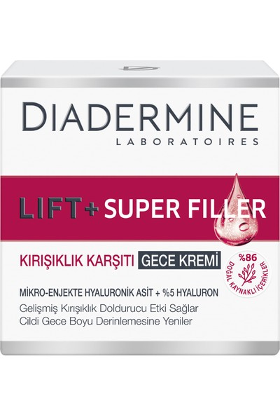 Diadermine Lift+Super Filler Kırışıklık Karşıtı Gece Kremi 50 ml