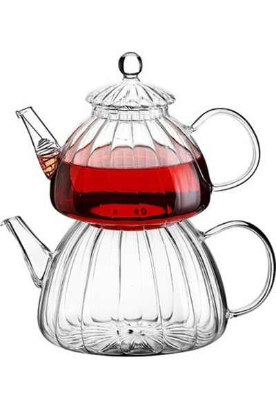 Vadi Isıya Dayanıklı Cam Çaydanlık Borosilikat Cam Çaydanlık