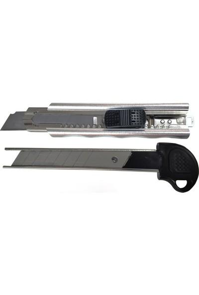 Gıant Alüminyum Maket Bıçağı Şarjör Sistemli + 5 Bıçak