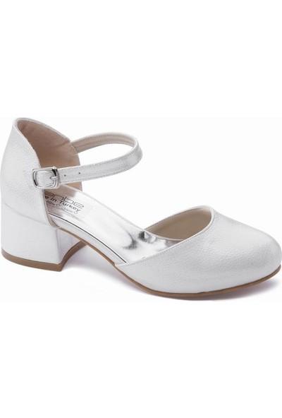 Sanbe 415T702 Kız Çocuk Abiye Ayakkabı Sedef 31-36