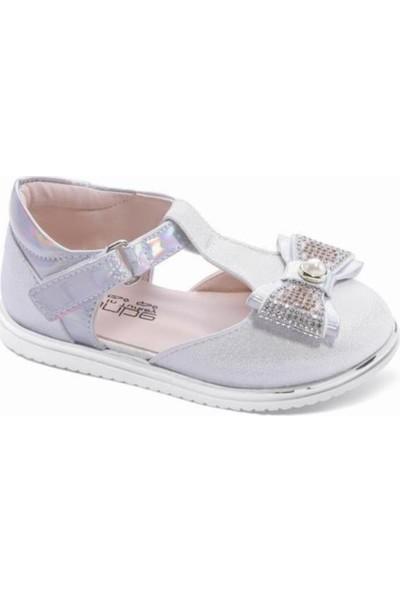 Sanbe 313T1301 Kız Çocuk Babet Ayakkabı Sedef 26-30