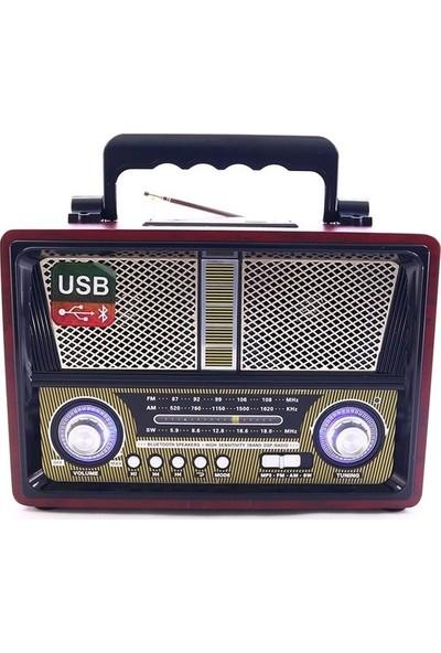 Kemai 1802 Nostaljik Görünümlü Radyo Bluetooth USB Sd Fm