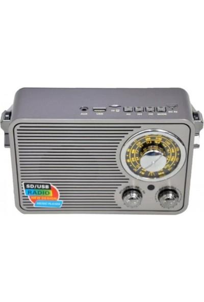 Kemai 1176BT Nostaljik Radyo Müzik Çalar Bluetoothlu Fm Radyo Mp3 Çalar