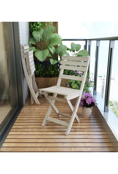 INTERBUILD REAL WOOD Interbuild Sofia Sandalye Bahçe De/balkon Da/teras Da Arkalıklı ve Katlanabilir 2 Adet / Paket Renk:espresso