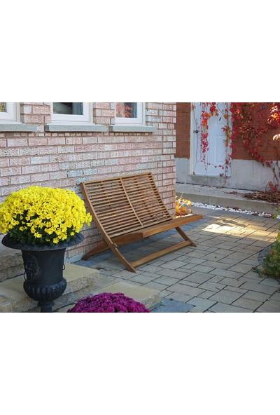 INTERBUILD REAL WOOD Stockholm Kanepe Iki Kişilik Renk;altın Teak