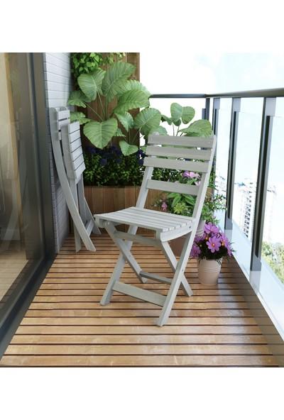 INTERBUILD REAL WOOD Interbuild Sofia Sandalye Bahçe De/balkon Da/teras Da Arkalıklı ve Katlanabilir 2 Adet / Paket Renk:alacakaranlık Grisi