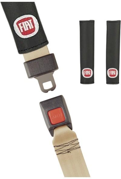 Hep Garaj Fiat Logolu Fiat Linea Ön Arka Koltuk Kılıfı Seti Siyah