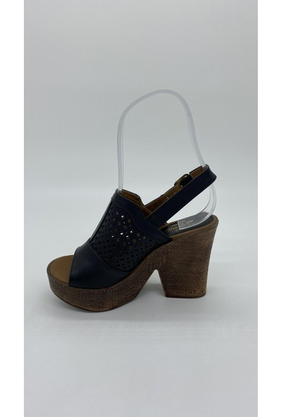 Cudo 029 Platform Topuk Siyah Sandalet