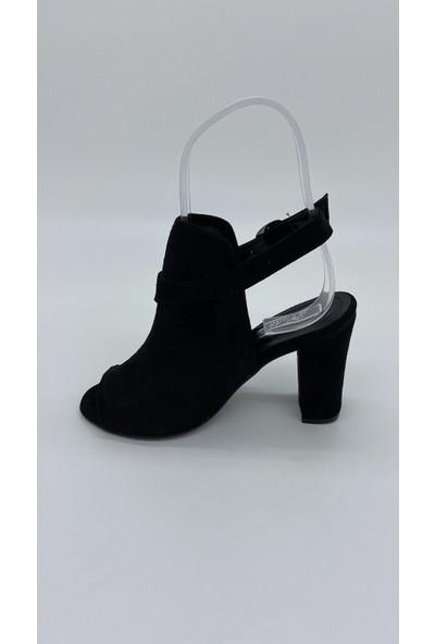 Cudo 014 Siyah Süet Sandalet