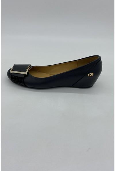 De Scarıo 170 Siyah Dolgu Günlük Ayakkabı