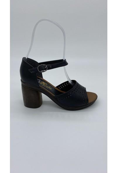 Cudo 007 Siyah Cılt Sandalet