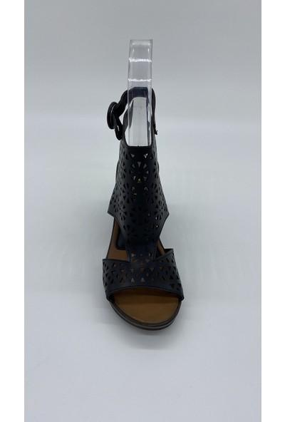 Cudo 009 Siyah Cılt Sandalet