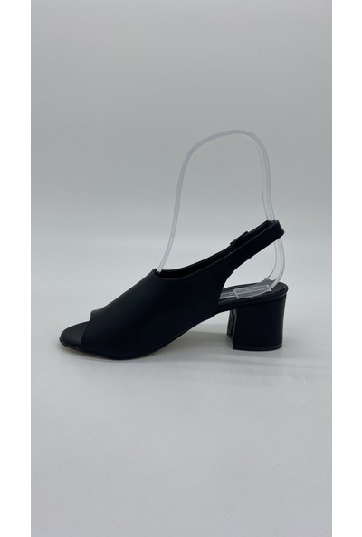 Cudo 041 Siyah Topuklu Sandalet