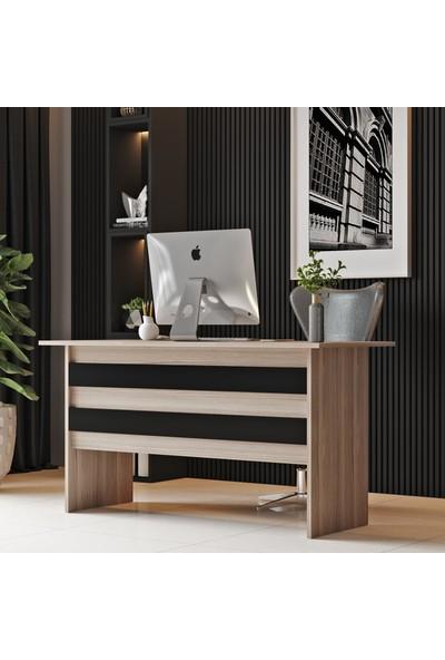 Robin Home Verona A Ofis Çalışma Masası Meşe - Siyah