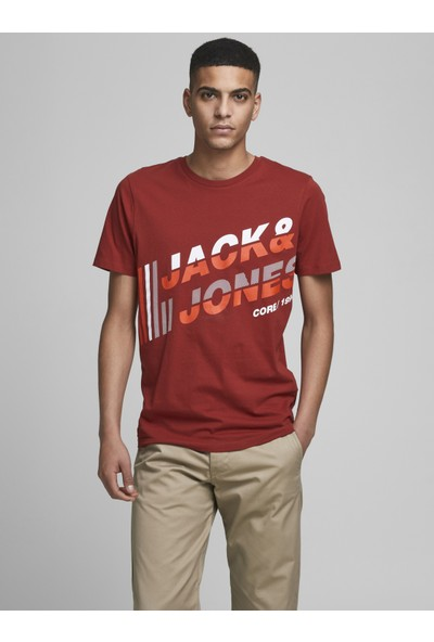 Jack & Jones Bisiklet Yaka Baskili Tisört 12188038