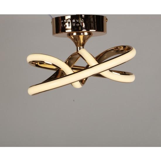 Luna Lighting Modern Luxury Şık Plafonyer LED Gold Ledli Avize