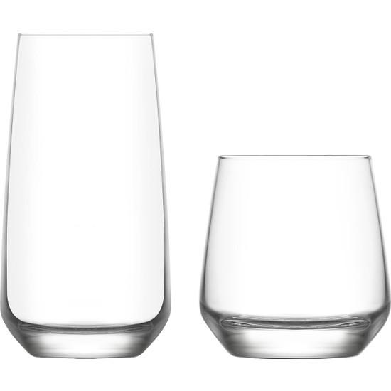 Lav Lal Su Meşrubat Bardağı 12 Parça Bardak Takımı