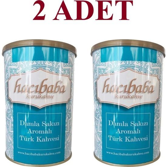 Hacıbaba Damla Sakızlı Türk Kahvesi Teneke Kutu 2 x 250 gr