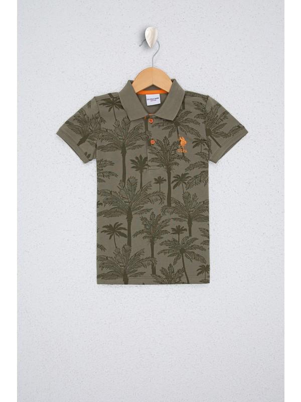 U.S. Polo Assn. Erkek Çocuk Yeşil T-Shirt 50238448-VR027