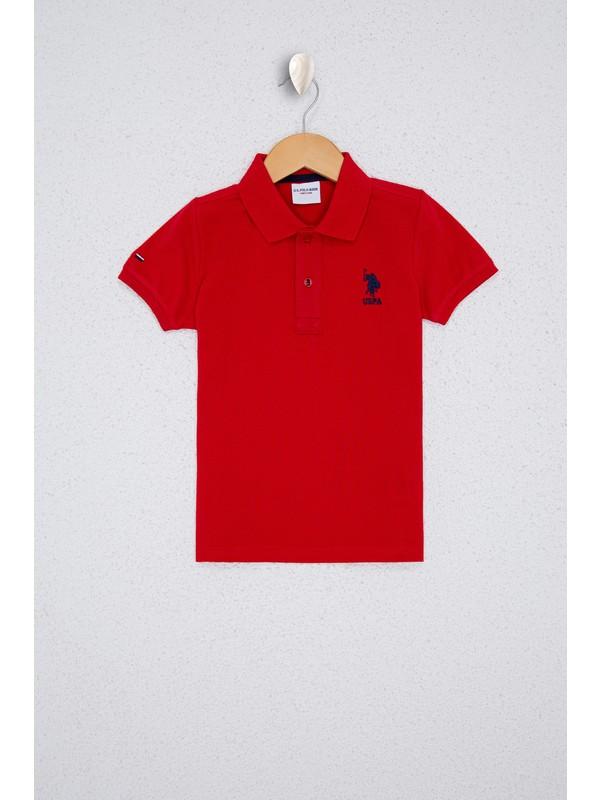 U.S. Polo Assn. Erkek Çocuk Kırmızı T-Shirt Basic 50232279-VR030