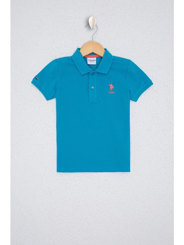 U.S. Polo Assn. Erkek Çocuk Mavi T-Shirt Basic 50232279-VR102