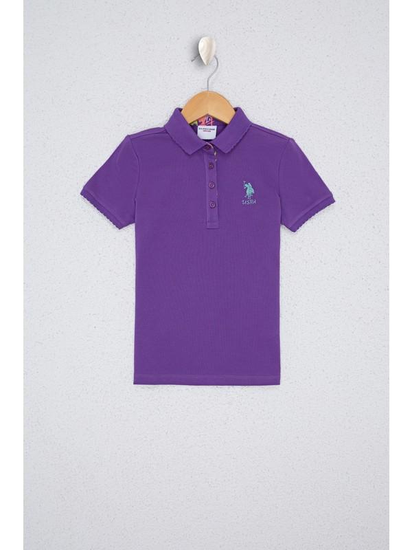 U.S. Polo Assn. Kız Çocuk Mor T-Shirt Basic 50233308-VR037
