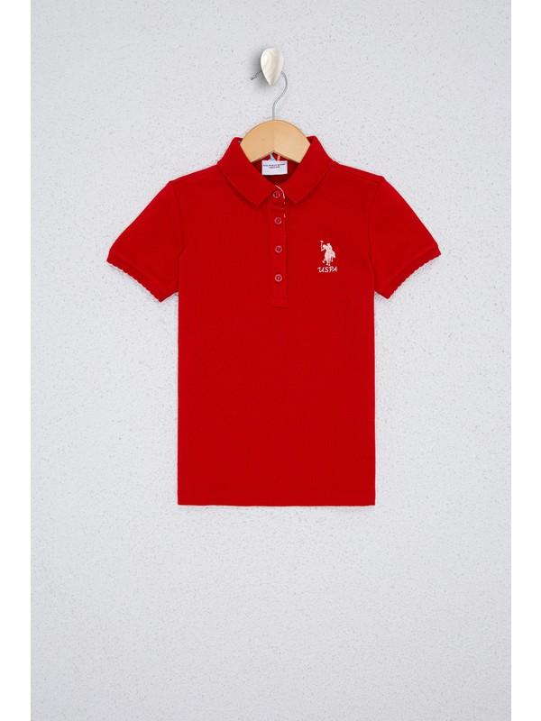 U.S. Polo Assn. Kız Çocuk Kırmızı T-Shirt Basic 50233308-VR030