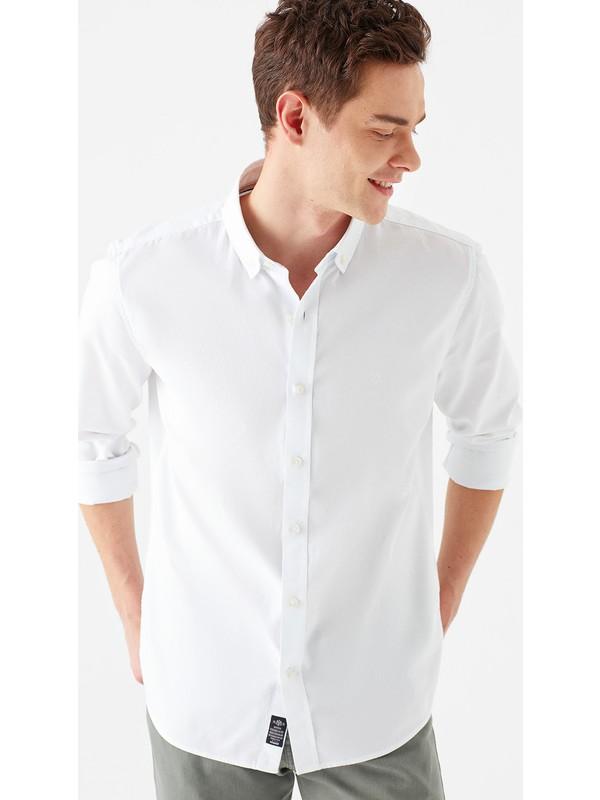 Mavi Erkek Beyaz Oxford Gömlek 020033-620