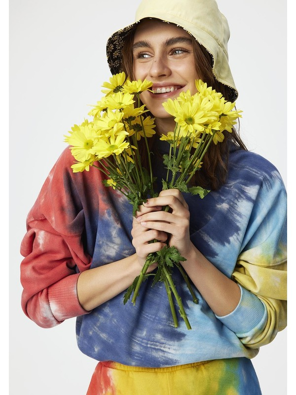 Mavi Kadın Batik Kırmızı Sweatshirt 1600831-33203