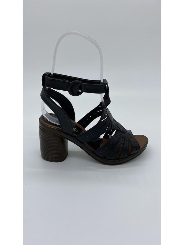 Cudo 003 Siyah Cılt Sandalet