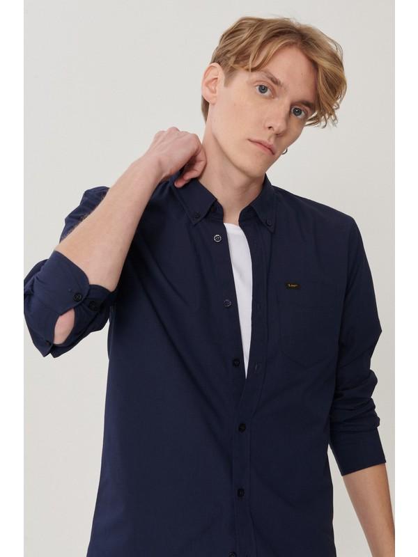 Lee Regular Fit Bol Kesim Uzun Kollu Erkek Gömlek
