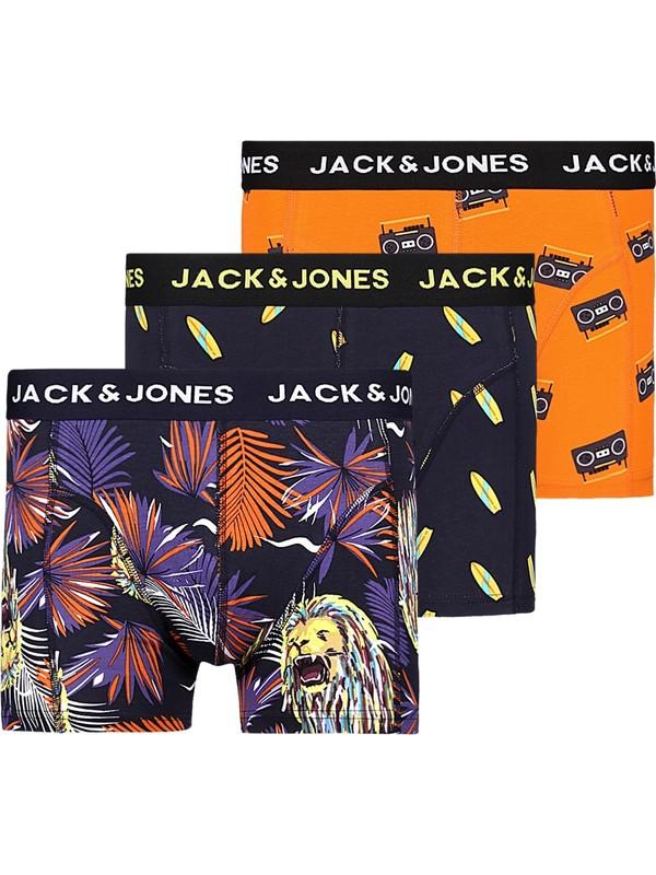 Jack & Jones 3'lü Desenli Boxer Paketi 12196507