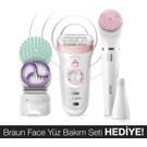 Braun Silk-épil 9 9995 Güzellik Seti SensoSmart Teknoloji Kablosuz Islak ve Kuru Kullanım Pembe 11 Ek Ataçmanlı Epilatör / Epilasyon
