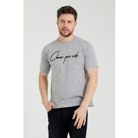 Tarz Cool Erkek Gri Oversize Modelli T-Shirt-Choseyourr03S