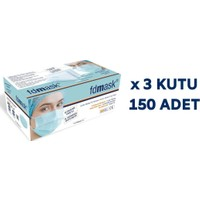 Fdmask Meltblown Cerrahi Maske 3 Katlı Full Ultrasonik Sertifikalı Telli (150 Adet)