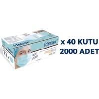 Fdmask Meltblown Cerrahi Maske 3 Katlı Full Ultrasonik Sertifikalı Telli (2000 Adet)