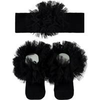 Mini Damla Minidamla Çorap ve Bandana Set 0-3 Ay Siyah