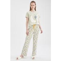 DeFacto Relax Fit Baskılı Kısa Kol Pijama Takımı