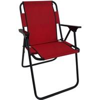 Bofigo Kamp Sandalyesi Katlanır Sandalye Piknik Sandalyesi Plaj Sandalyesi - Kırmızı