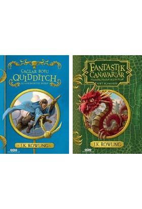 Harry Potter Evreni Ciltli 2 Kitap Set J. K. Rowling - Çağlar Boyu Quidditch - Fantastik Canavarlar Nelerdir Nerede Bulunurlar