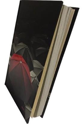 SVN A6 Sert Kapak Red Blok Not Kırmızı Şemsiyeli Kareli Defter 10X15 cm